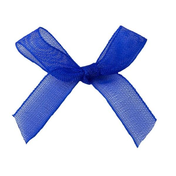 Schleifen, Organza, Bandbreite 7mm, 50 Stück, blau