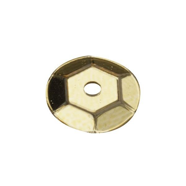 Pailletten, metallic, 15 g, Ø6 mm, gold