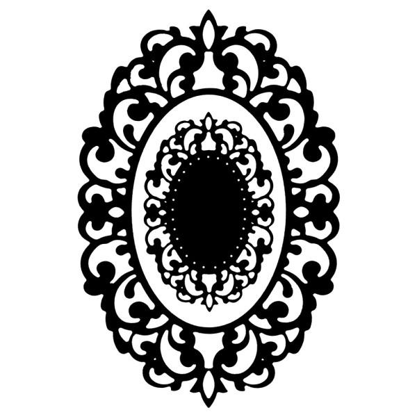 Stanzschablone, Kartenaufleger Rahmen 3, 2 Stück
