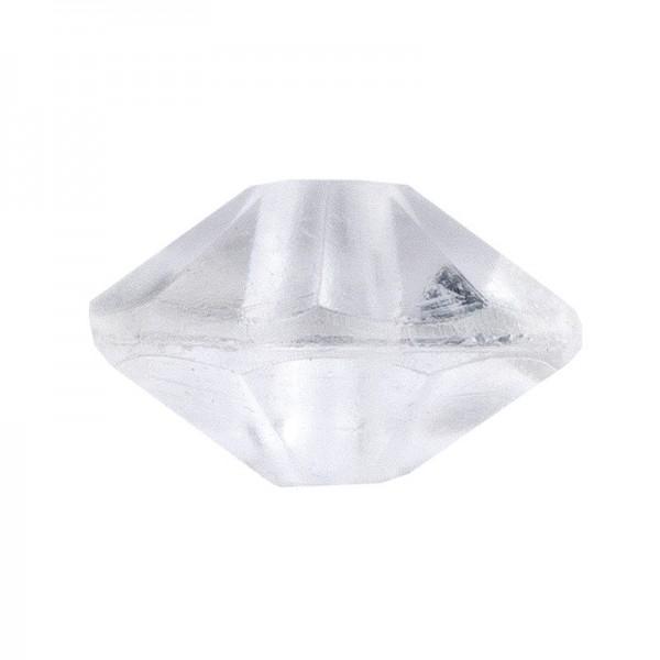 Facetten-Perlen, transparent, Ø6mm, klar, 100 Stück
