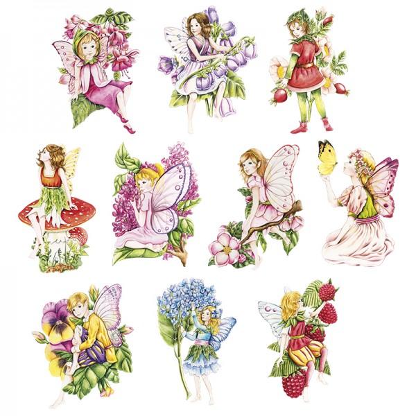 3-D Motive, Zauberhafte Elfen, 6-10cm, 10 Motive
