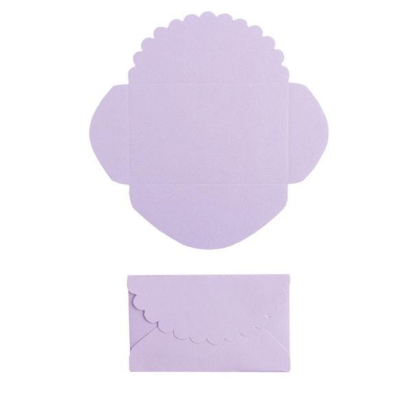 Mini-Umschläge, 4,2 x 6,6 cm, 100 Stück, flieder