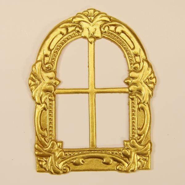 Wachs-Fenster, 9 x 7 cm, gold