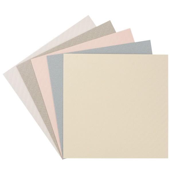 """10er Grußkarten-Set, """"Batik"""", 13x13 cm, 5 Farben"""
