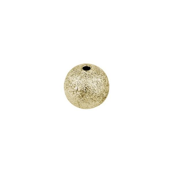 Perlen, Diamantiert, Ø 6mm, gold, 150 Stück
