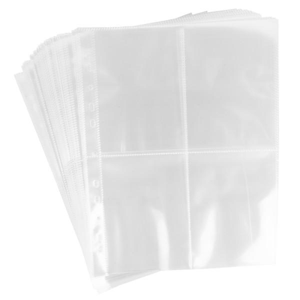 Sammelhüllen, DIN A4, 4-geteilt, glasklar, 50 Stück