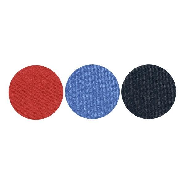 Stoffkreise für Knöpfe mit 16 mm Ø, rot/blau/schwarz, 50er Set