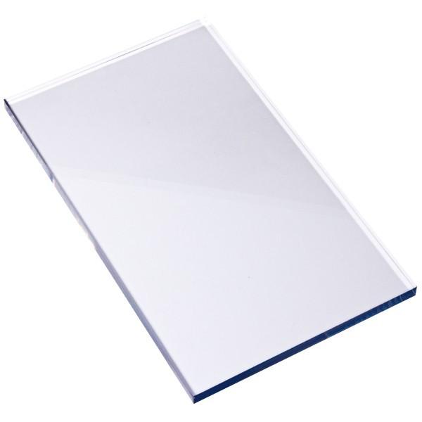 Stempel Block, 13,5 x 8 x 0,5 cm, transparent