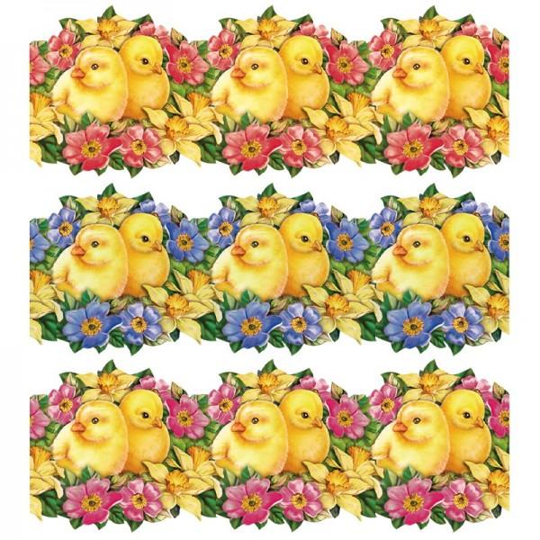 """Zauberfolien """"Küken-Pärchen"""", Schrumpffolien für Eier mit 9,5cm x 6,5cm, 7,6cm hoch, 6 Stück"""