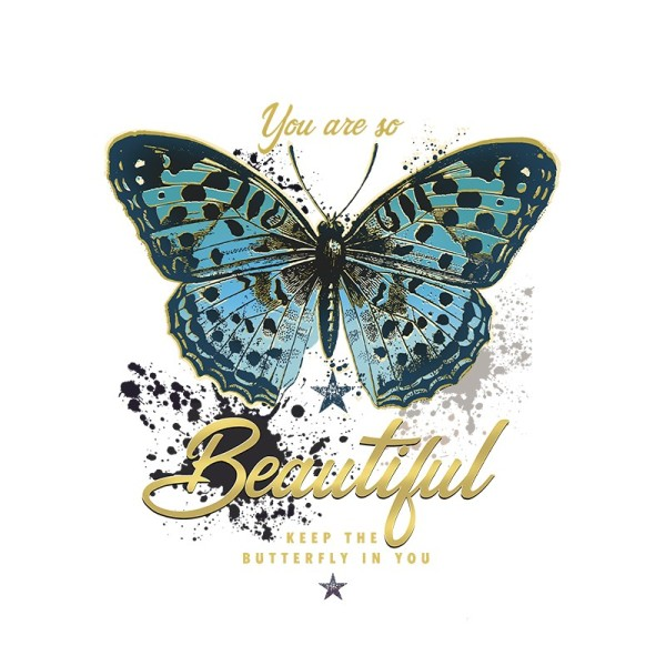 Color Bügeltransfers, DIN A4, Schmetterling