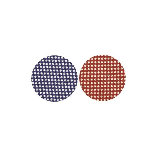 Stoffkreise für Knöpfe mit 22 mm Ø, blau/rot, 50er Set