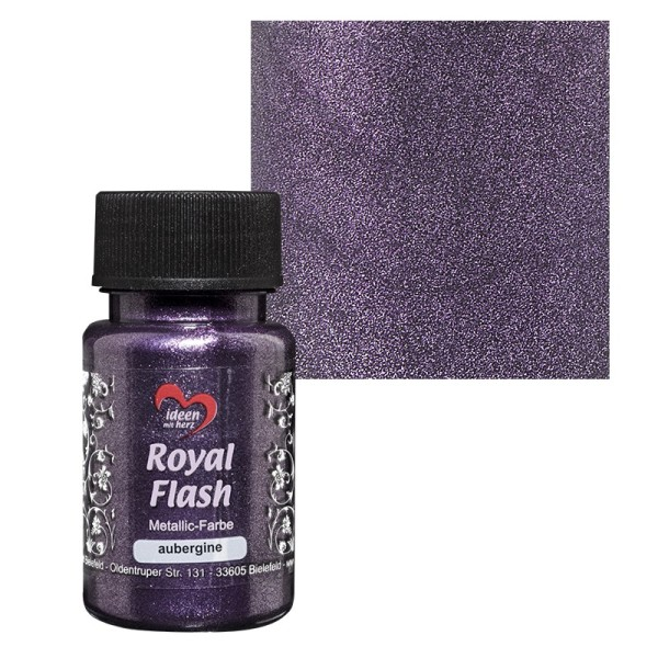 "Metallic-Farbe ""Royal Flash"", aubergine, 50 ml"