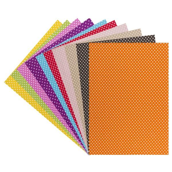 """Stoffe """"Vielfalt 2"""", verschiedene Designs, selbstklebend, DIN A4, 10 Bogen"""