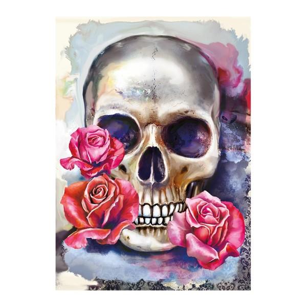 Diamond Painting, Skull, 25cm x 35cm, Motivleinwand, runde Steinchen, inkl. Werkzeug