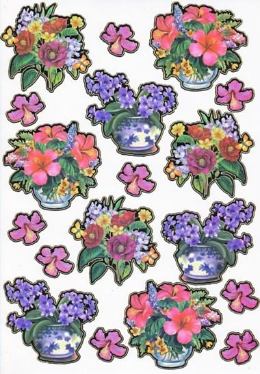 Ultra Gloss Sticker Bogen, Veilchen & Lilie