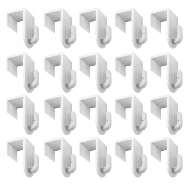 Deko Fenster- & Türhaken, 2cm x 2,8cm x 3,4cm, weiß, 20 Stück