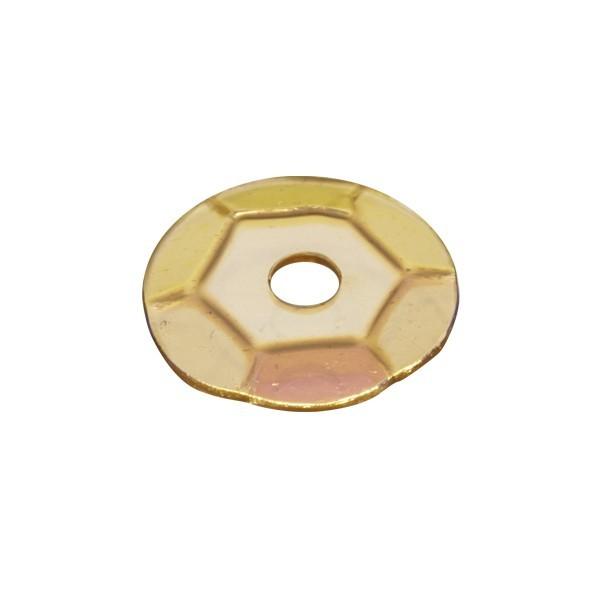 Pailletten, transparent, irisierend, 15 g, Ø6 mm, gelb