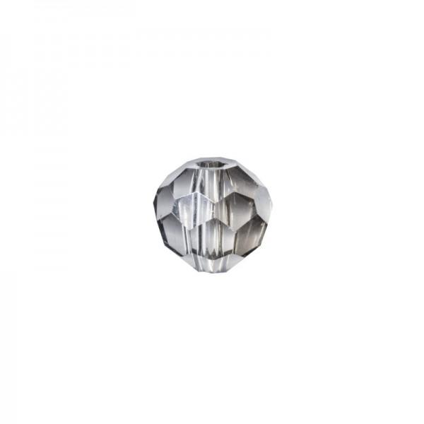 Glas-Perlen, transparent, Ø6 mm, 20 Stück, rauchquarz-irisierend