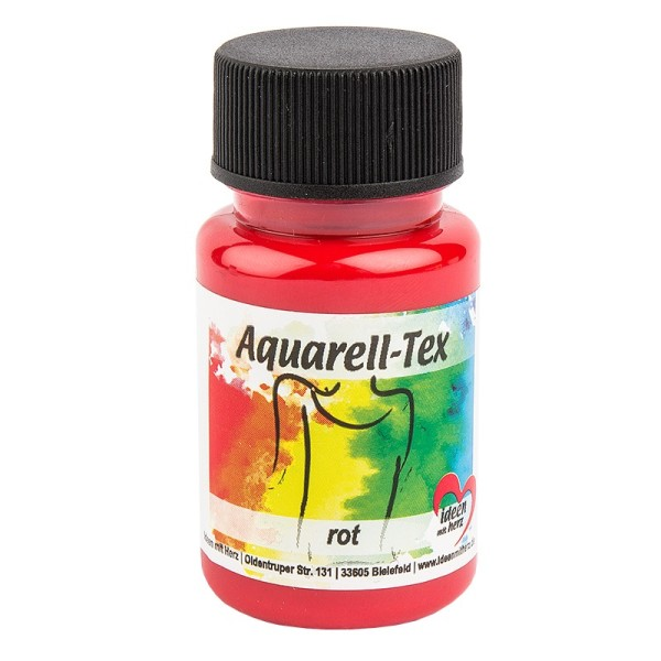 Textilfarbe, Aquarell-Tex, 50ml, rot