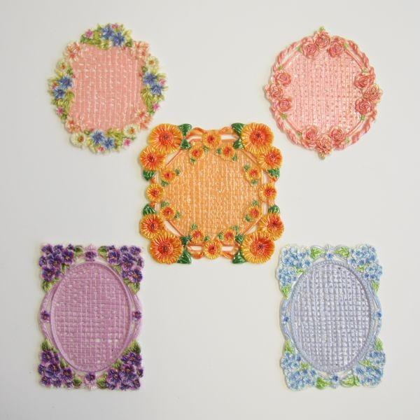 Wachs-Zierdeckchen, farbig, 10er Set