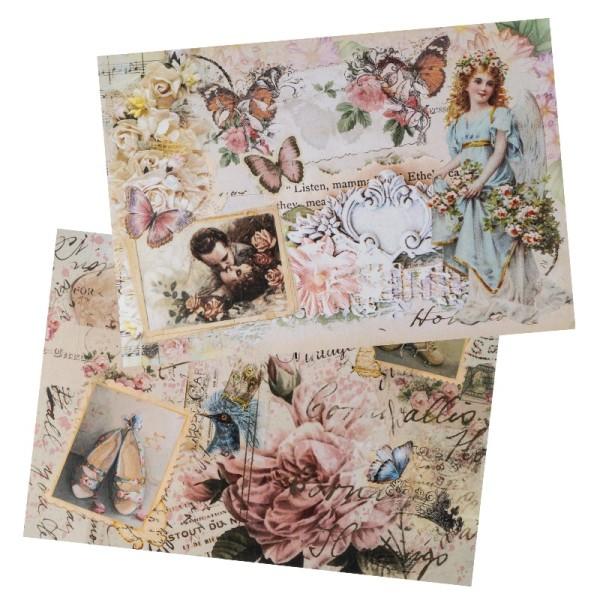 Reispapiere, Nostalgie 11, DIN A4, 2 Designs