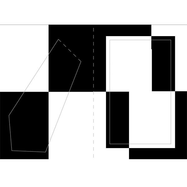 Bilderrahmen-Karte, Black & White, B6