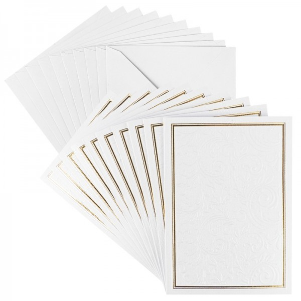Grußkarten, Ornamentik, B6, inkl. Umschläge 10 Stück