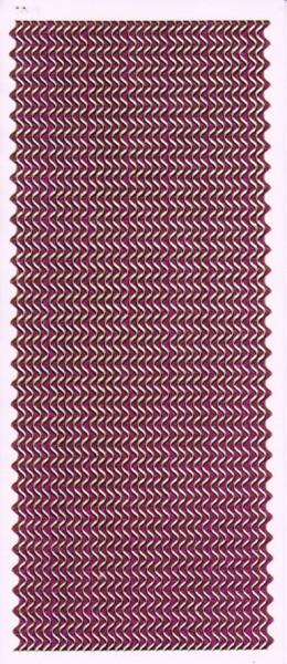 Microglitter-Sticker, Wellen-Bordüren, pink