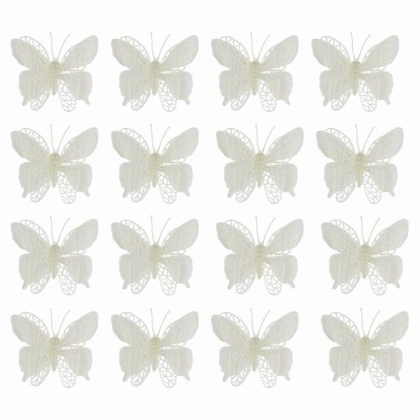 Deko-Schmetterlinge, Rohlinge, 9cm x 10cm, 16 Stück