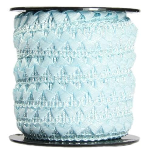Bordürenband, Stoff, edle Dreiecke, 17mm x 10m, hellblau