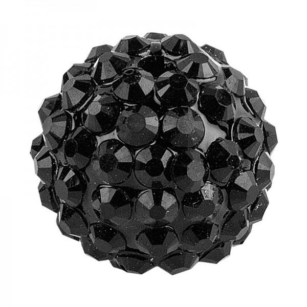 Kristall-Perlen, Ø 18mm, schwarz, 10 Stück