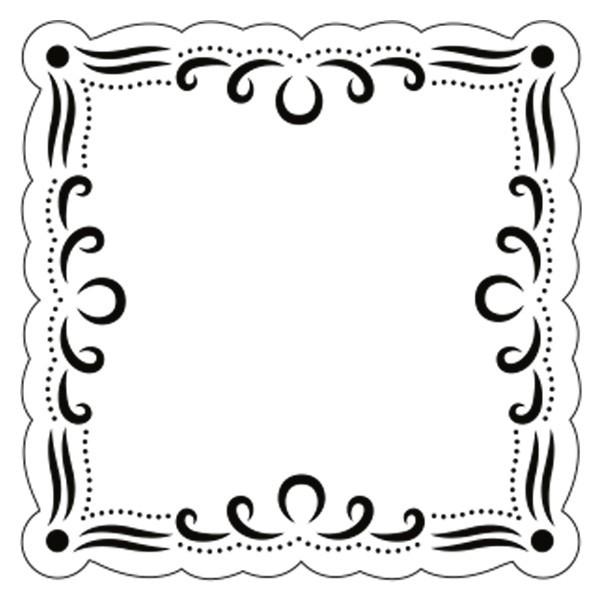 Präge-/Prickelschablone, 12 x 12 cm, Design 2