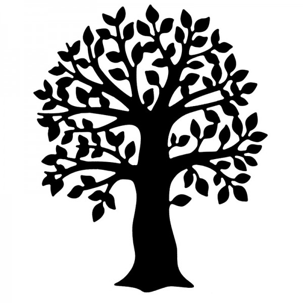 Präge-& Stanzschablone, Baum, 9,4cm x 11,4cm