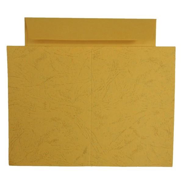 10er Grußkarten-Set, Lederprägung, C6, inkl. Umschläge, ocker