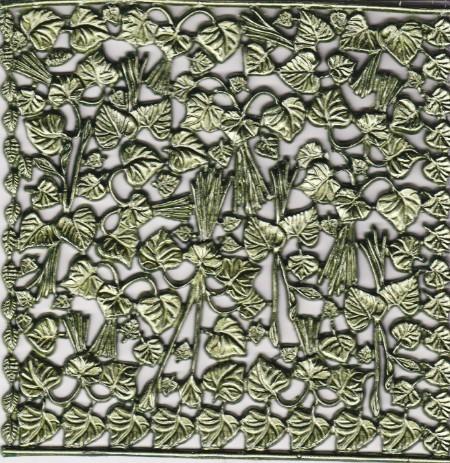 Wachsornament-Platte Veilchengrün, 16 x 16 cm, grün