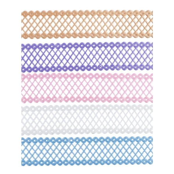 "Zierbänder ""Ela"", 1m lang, 2,5cm breit, 5 Stück"