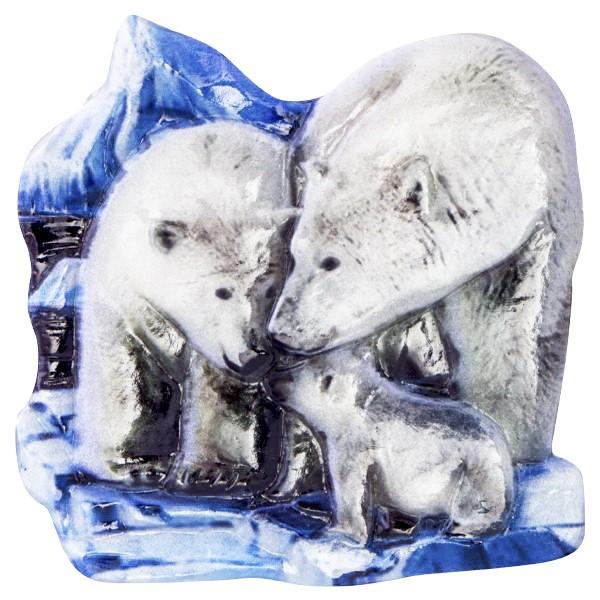 Wachsornament Tiere im Winter 9, farbig, geprägt, 7cm