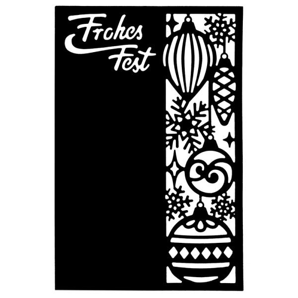 Stanzschablone, Frohes Fest 4, 14,5cm x 9,5cm