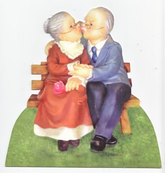 Deko-Bild, Oma & Opa, ca. 20 x 20 cm