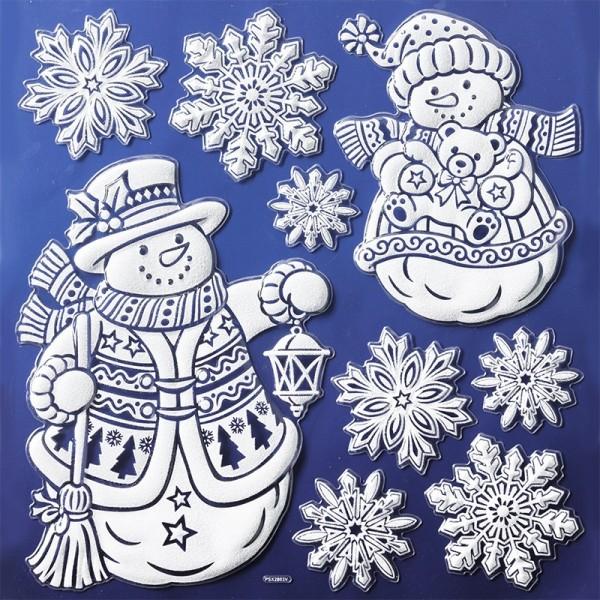 Glimmer-Relief-Sticker XL, Winter 2, 31 x 30 cm