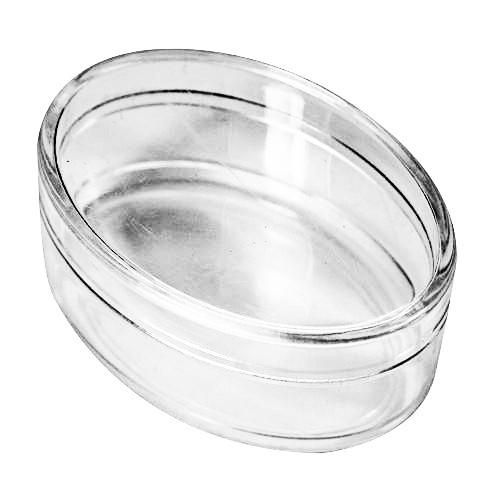 Acryl-Oval-Dosen, 6,4 x 4,4 x 3 cm, 2 Stück, klar