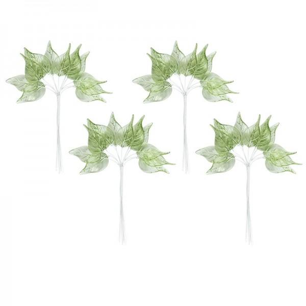 Acryl-Blätter auf Draht-Stiel, 14 cm lang, Design 3, 50 Stück