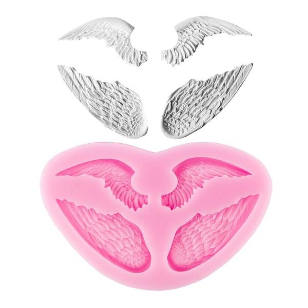 Silikon-Form, Relief-Flügel, 2 Flügelpaare, bis 6cm