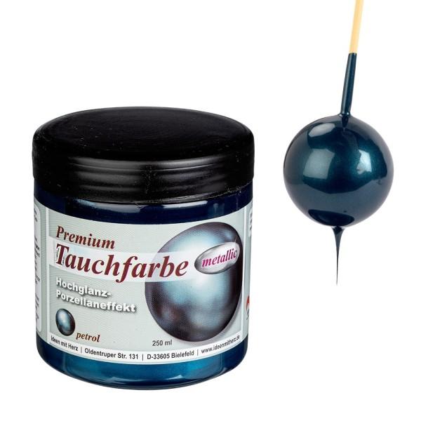 Premium-Tauchfarbe, metallic, petrol, 250ml