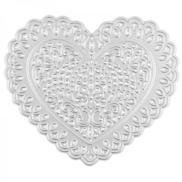Stanzschablone, Herz, 10,2cm x 8,8cm, passend für gängige Stanzmaschinen