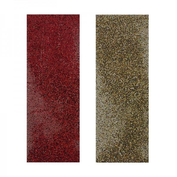 """Stoffe Royal """"Pailletten"""", selbstklebend, 10 x 29 cm, 2 Stück, gold & rot"""
