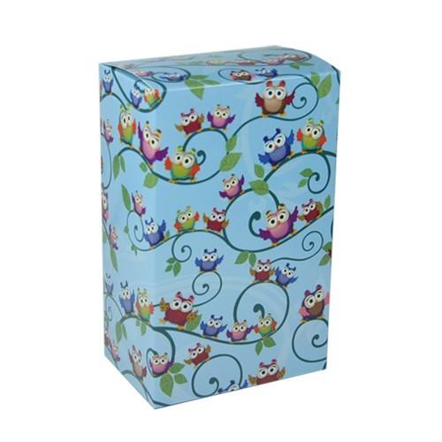 Geschenkbox Kaffee, Eulen-Design, blau
