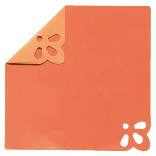 DuoColor Stanz-Faltpapiere, 10 x 10 cm, orange, 2 Ecken, 100 Blatt