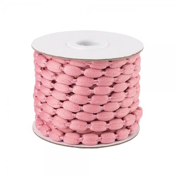 Pompon-Band, Ø 1cm, 10m, auf Rolle, rosa