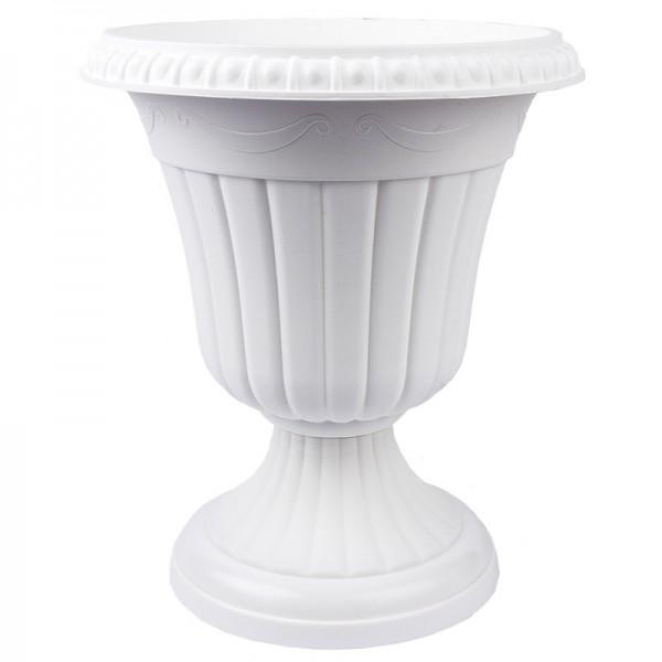 """Blumenspindel """"Milano"""", Ø20cm, 23cm hoch, Kunststoff, weiß"""